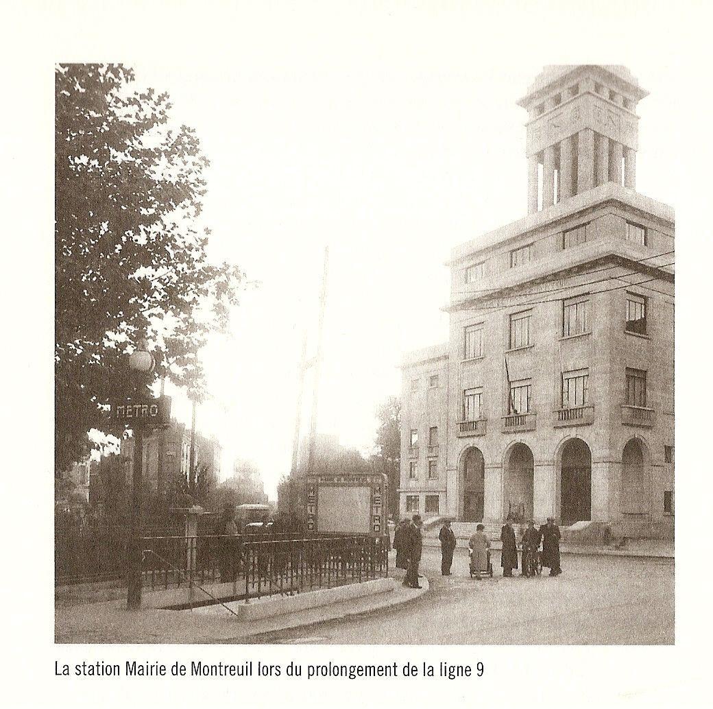 Era Mairie De Montreuil Montreuil: La Station Mairie De Montreuil En 1937