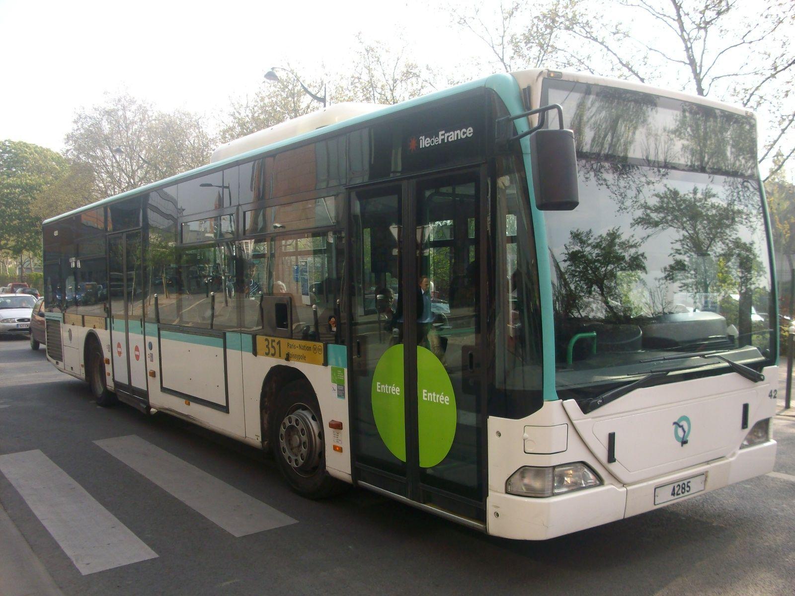 Pr sentation de la ligne bus 351 - Bus 351 paris ...